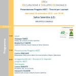 Progetto NEET: Comune di Salice Salentino e GAL Terra d'Arneo presentano l'iniziativa