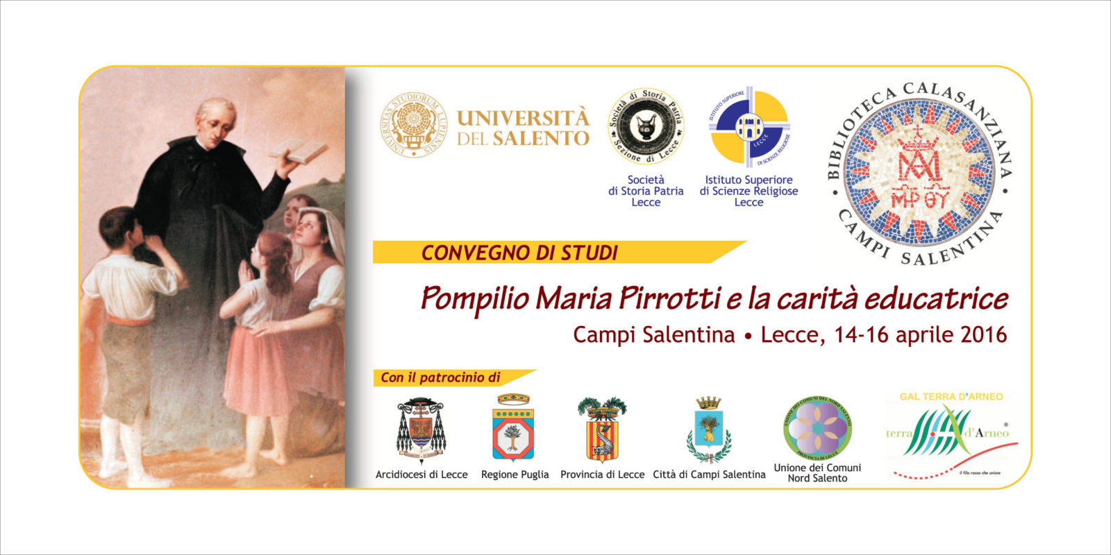 Convegno di studi: Pompilio Maria Pirrotti e la carità educatrice