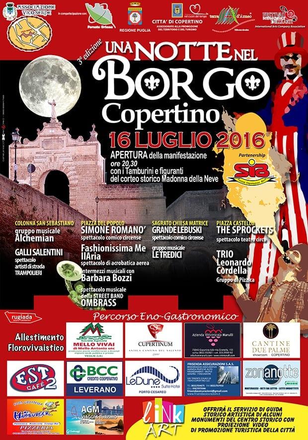 """A Copertino la 3 edizione di """"Una Notte nel Borgo"""""""