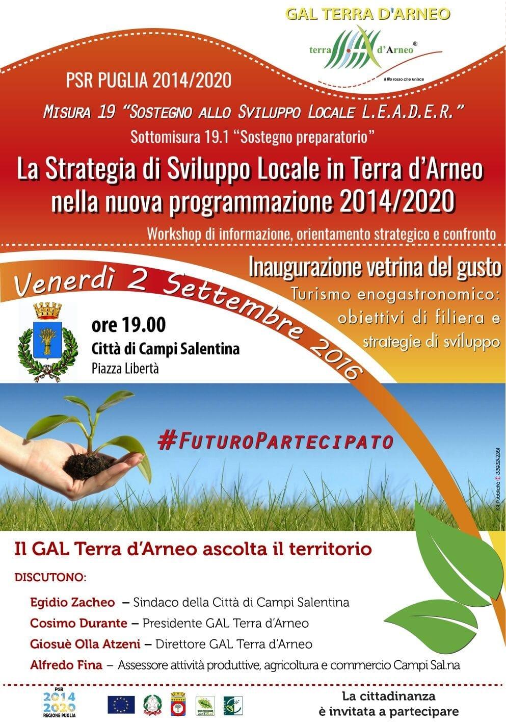 WORKSHOP: La strategia di Sviluppo Locale in Terra d'Arneo nella nuova programmazione 2014/2020