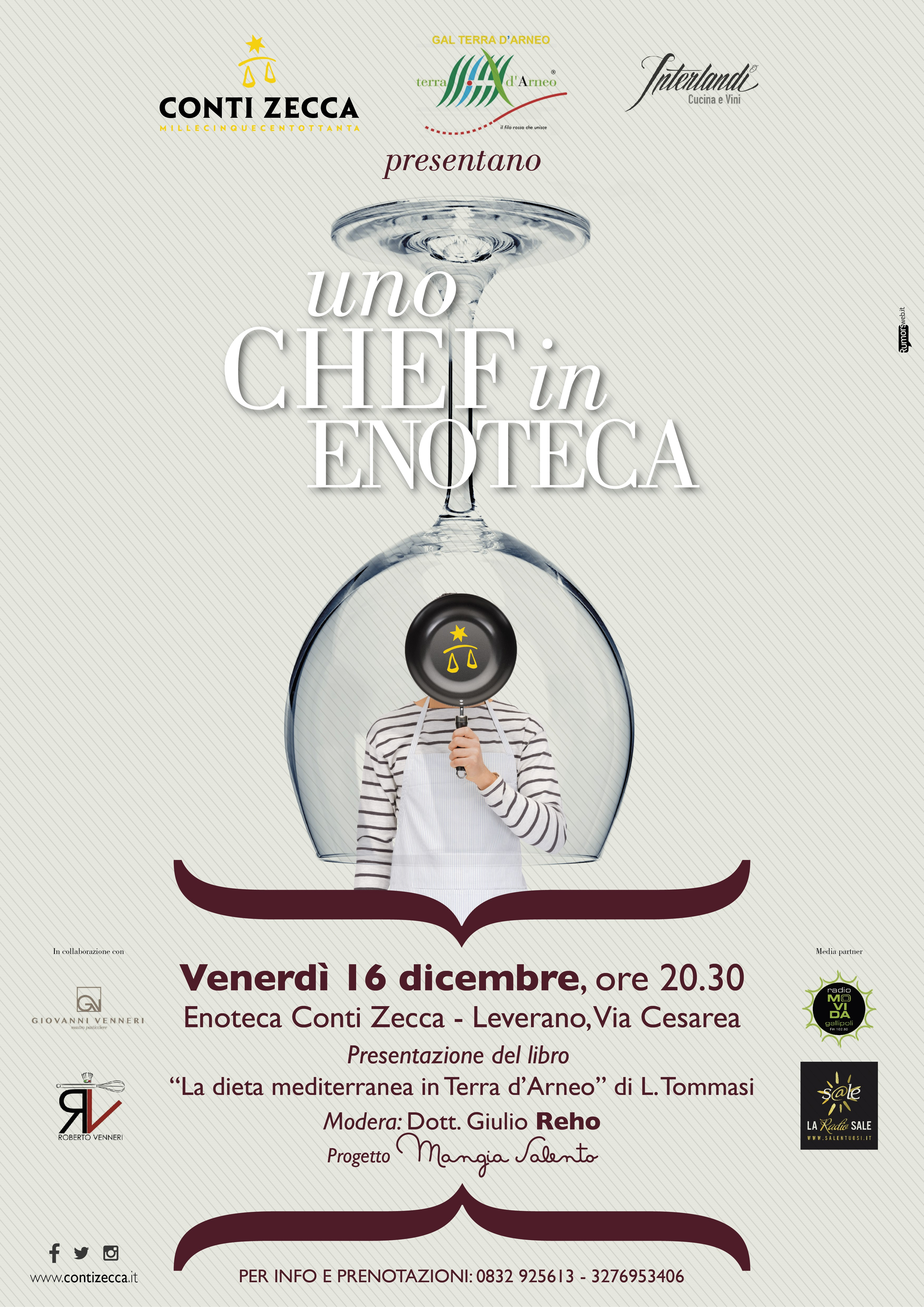 UNO CHEF IN ENOTECA - Show cooking sulla Dieta Mediterranea