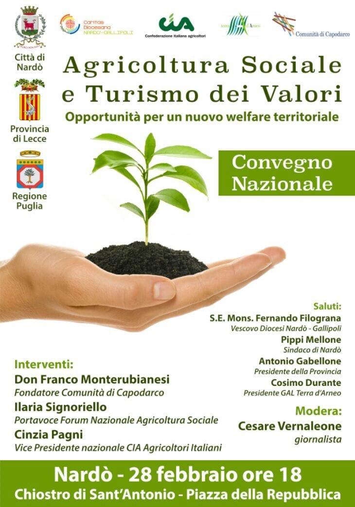 Convegno nazionale: Agricoltura Sociale e Turismo dei Valori