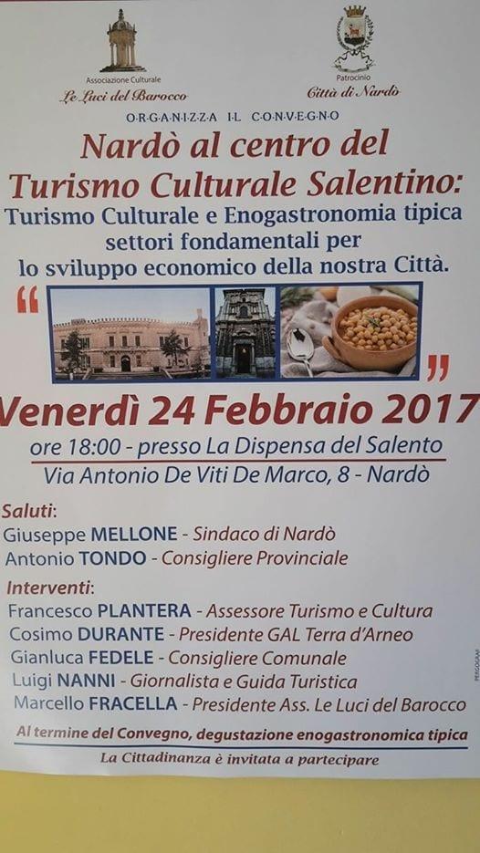 """Convegno: """"Nardò al centro del turismo culturale salentino"""""""