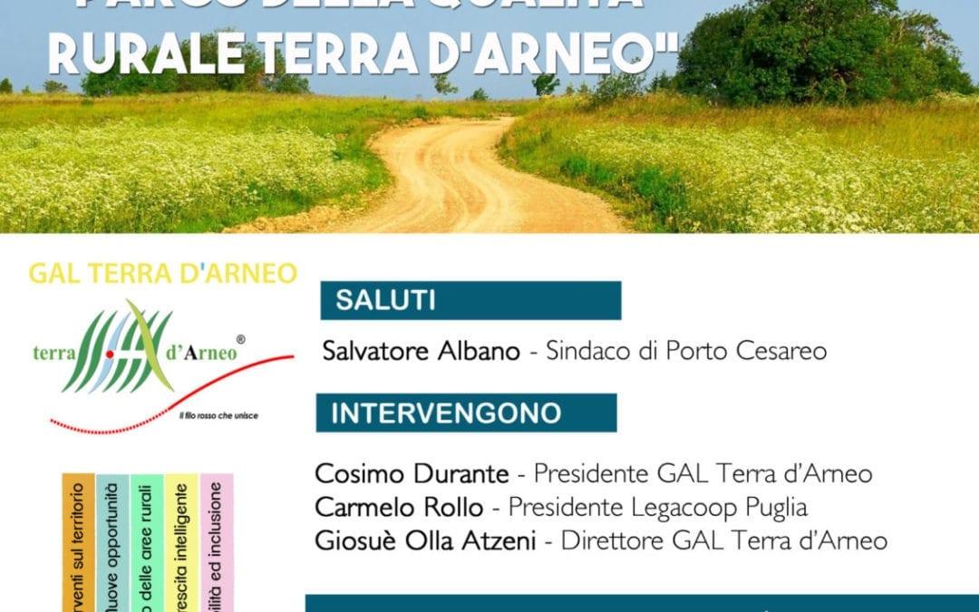 Si svolgerà a Porto Cesareo un nuovo appuntamento con le attività di animazione territoriale del GAL Terra d'Arneo