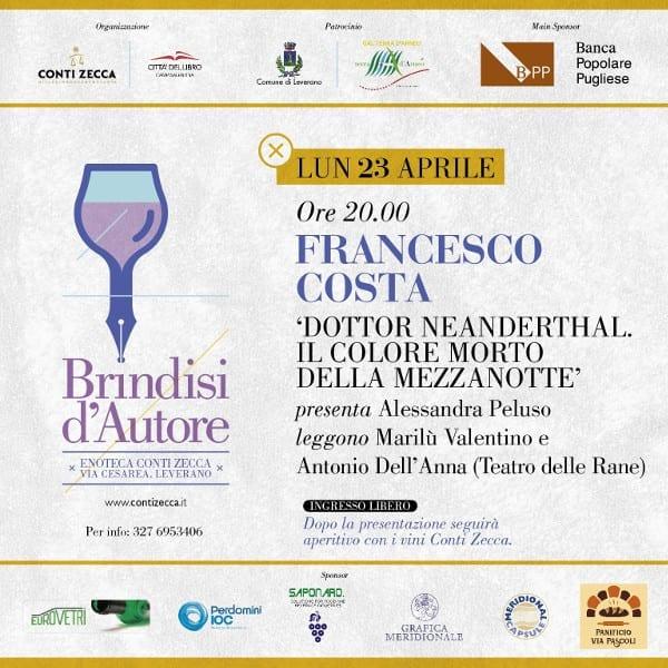"""""""Brindisi d'autore"""", a Leverano nuovo appuntamento culturale di Conti Zecca e Città del Libro"""