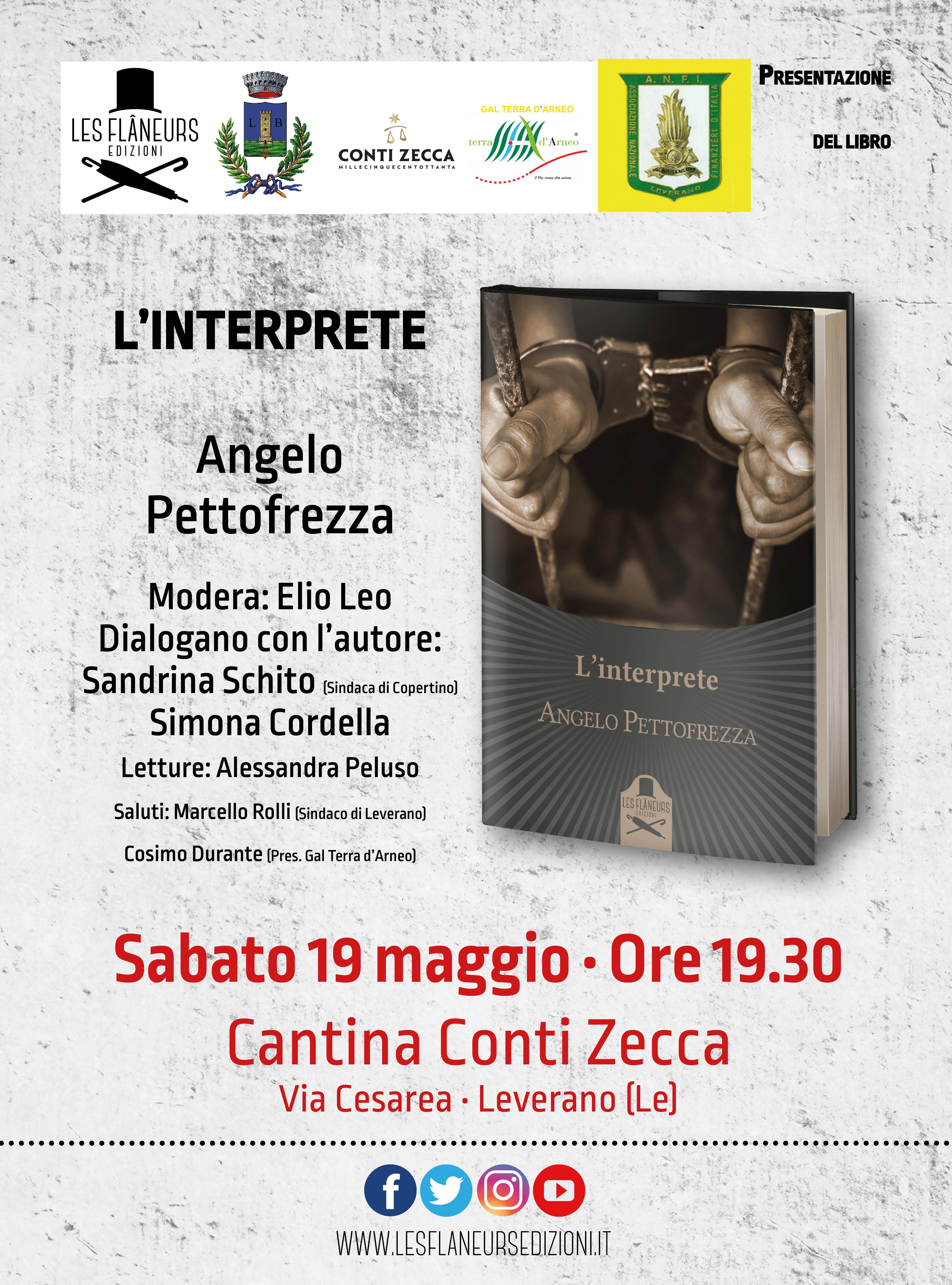 """Presentazione libro """"L'interprete"""" di Angelo Pettofrezza"""