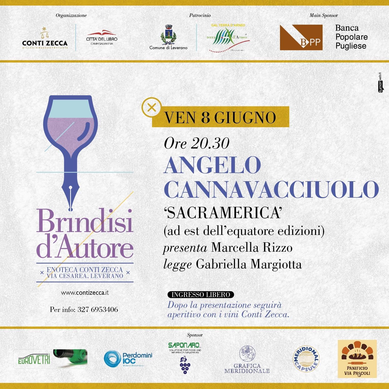"""Brindisi d'Autore – Presentazione del libro di A. Canavacciuolo """"Sacramerica"""""""