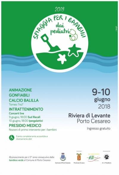 """SPIAGGIA PER I BAMBINI Porto Cesareo, un mare """"a misura di bambino"""": due giorni di eventi per celebrare la """"Bandiera verde"""""""