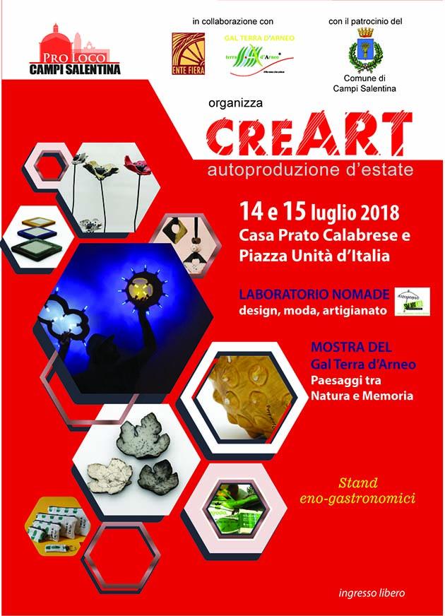 creART: autoproduzioni d'estate  – Rassegna d'arte, tradizione e design