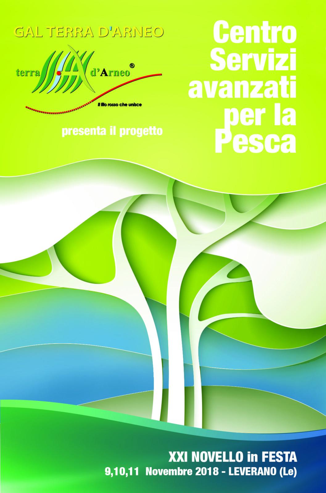 """Il GAL Terra d'Arneo presenta il progetto """"Sportello Pesca"""" in occasione del Novello in Festa:  un centro servizi avanzati per lo sviluppo sostenibile dell'economia del mare e la crescita blu"""