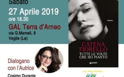 """Presentazione del libro  di Catena Fiorello """"Tutte le volte che ho pianto"""""""