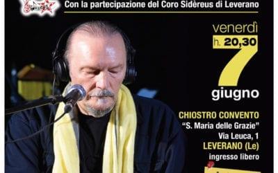 """Concerto """"ADUNANZA MISTICA"""": Juri Camisasca a Leverano (Lecce) il 6 e 7 GIUGNO"""