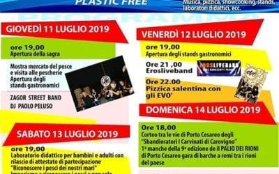 Sagra del pesce di Porto Cesareo – 42^ edizione – 11/14 luglio 2019