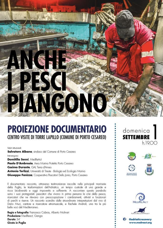 ANCHE I PESCI PIANGONO - proiezione documentario