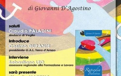 """Si presenta al GAL il libro di Giovanni D'Agostino """"Rapsodia Salentina"""""""