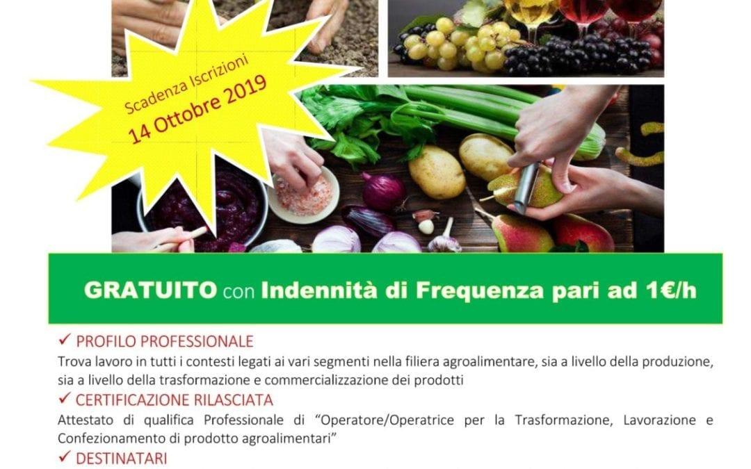 Operatore per la Trasformazione, Lavorazione e Confezionamento di prodotti agroalimentari